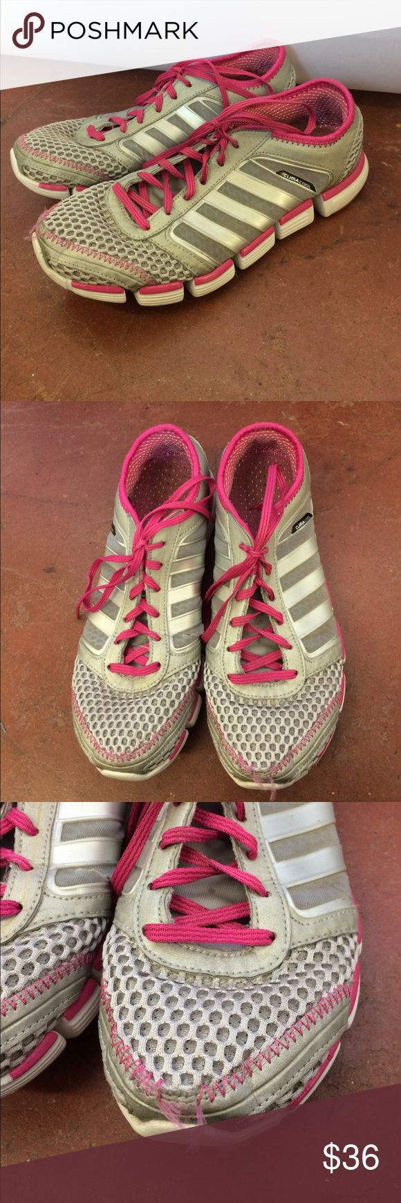 Adidas Climacool Sneakers Pink and gray sneakers Size 9 Pre-owned Some wear as shown in pictures  P273 adidas Shoes Athletic Shoes