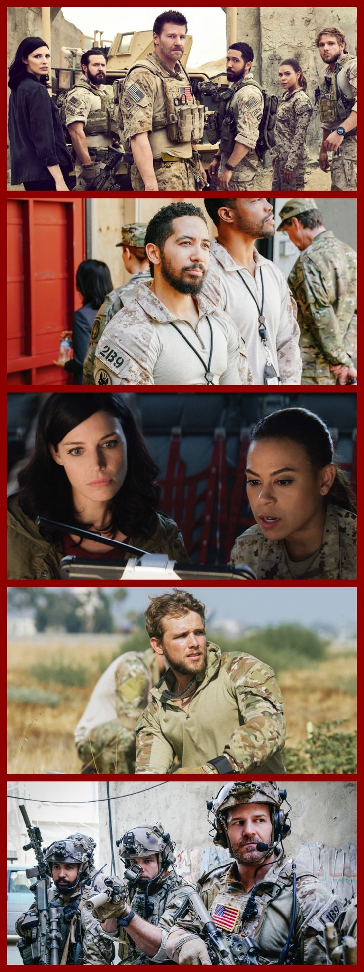 10 Reasons You Should Be Watching 'Seal Team' on CBS -- pictured: David Boreanaz, Max Thieriot, Neil Brown Jr., AJ Buckley, Toni Trucks, Jessica Paré