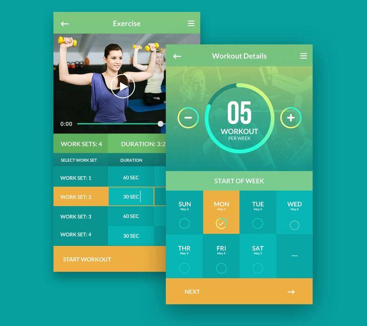 Adasse | Gym séance d'entraînement de conception mobile et application web