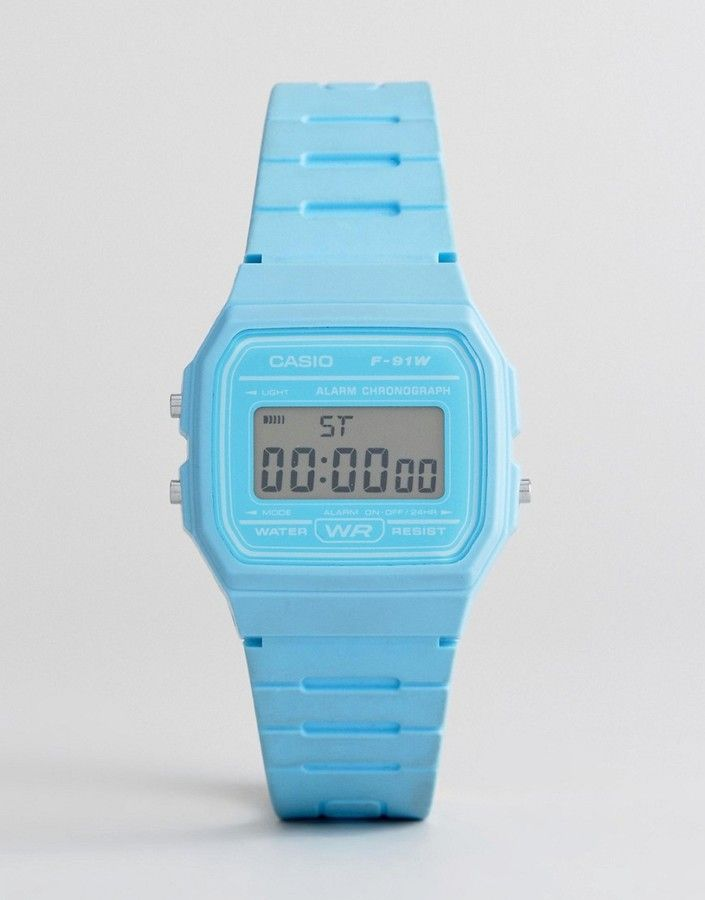Casio F-91WC-2AEF Digital Silicone Watch In Blue