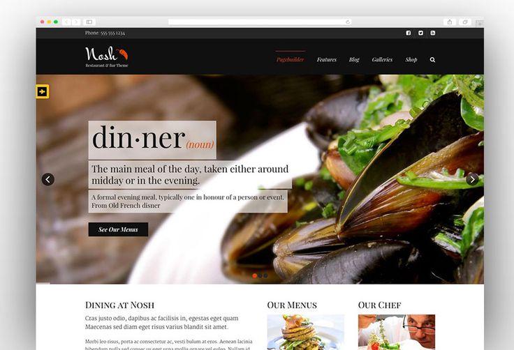 The 35 best Restaurant WordPress Themes images on Pinterest ...