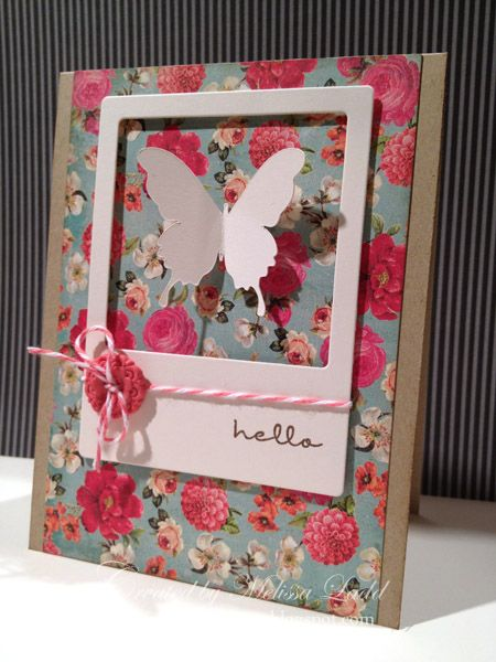 fabulous frames, great modern idea for floral paper
