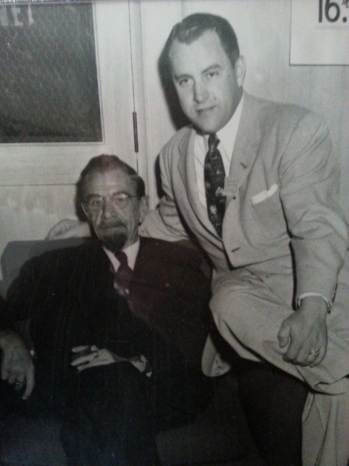 Chiropractors Dr. BJ Palmer & his good friend Dr. Clair O'Dell (Grandpa). This picture is from our Family album. Photo provided by Uncle Jim~ Dr. James O'Dell, DC Michigan. Green Cottage Designs www.etsy.com/shop/greencottagedesign
