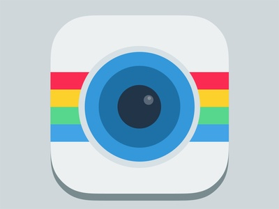 Flat Icons / Flat Design / Icons Design / Icons / Pictograms / Instagram flat icon