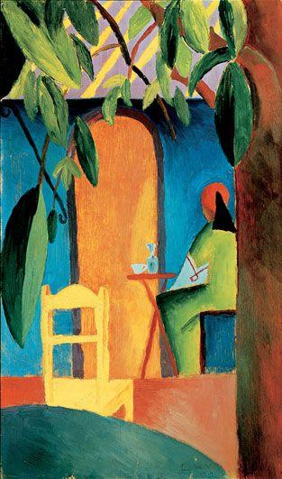 August Macke, Turkish Cafe II, 1914, Staedtische Galerie ...