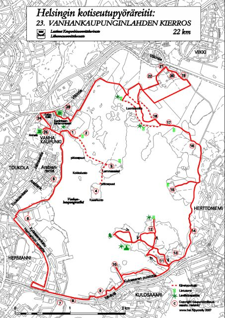 Helsinki sightseeing: Vanhankaupunginlahti  bike tour.