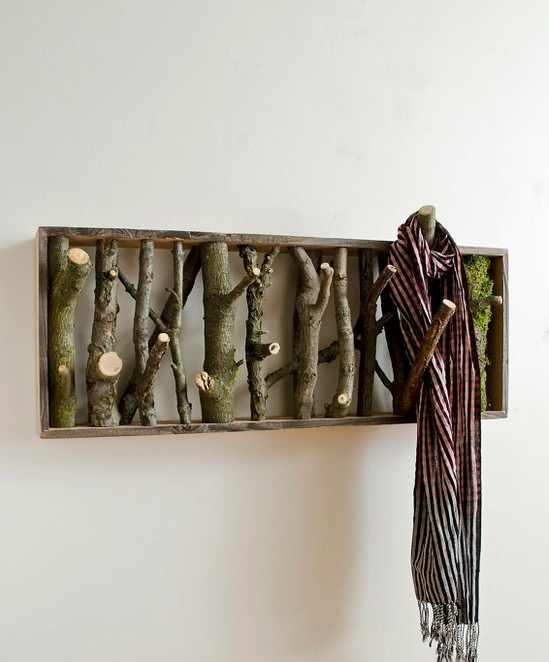 A nice idea for a coat rack in a cabin or rustic location and you can make it yourself
