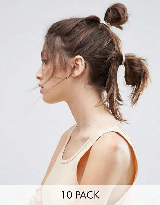 ASOS   ASOS - Confezione da 10 elastici per capelli color carne misti
