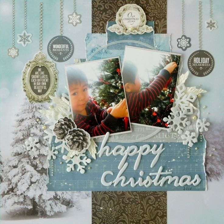 Happy Christmas - Kaisercraft - Frosted Collection - Christmas