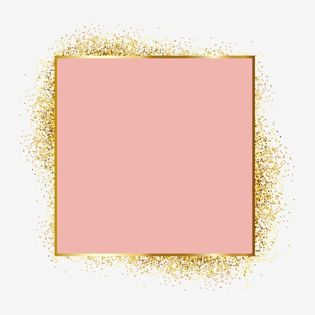 Gold Metal Particles Glitter Frame Framing Elements Elegant Pink And Gold Png And Vector With Transparent Background For Free Download Gold Glitter Background Pink And Gold Background Glitter Frame