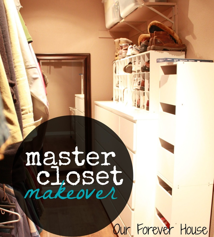 Ikea Malm Dressers, Closetmaid Shoe Cubbies From Target. Our Forever House:  Master Closet Makeover