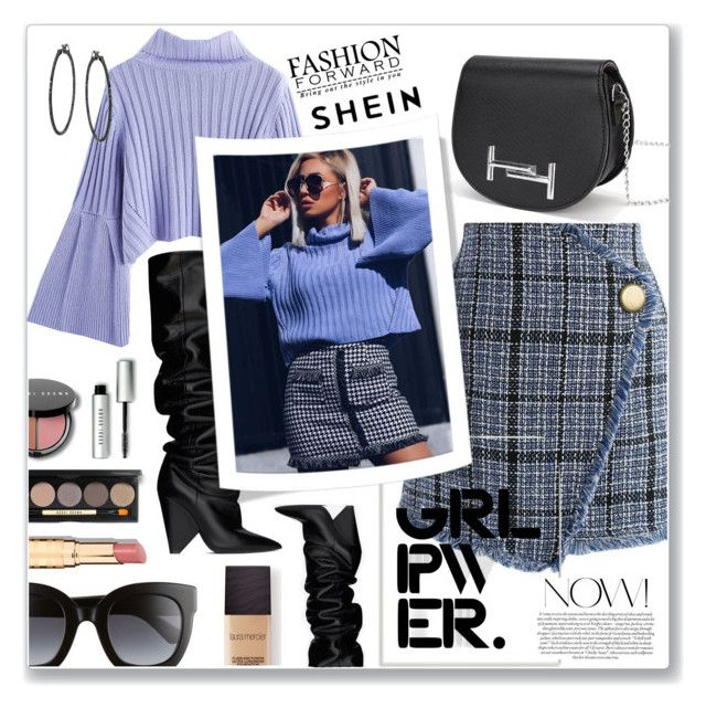 """""""Power look"""" by nena19sm ❤ liked on Polyvore featuring Chicwish, Yves Saint Laurent, Gucci, Stupell, Laura Mercier, Bobbi Brown Cosmetics, girlpower, powerlook and shein"""