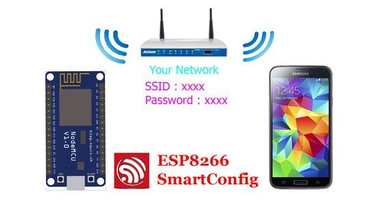 ESP8266 WiFi SmartConfig with Android App and Arduino IDE.     What is ESP8266 WiFi SmartConfig?   When you use ESP8266 WiFi Module con...