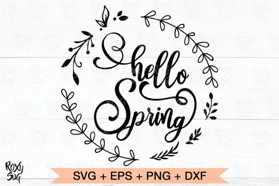 spring svg Wreath of Flowers svg svg files for cricut Hello Spring Svg spring cut file spring time svg,Clipart svg files hello spring