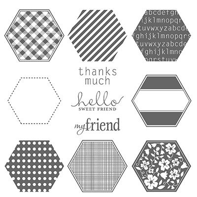 Six-Sided Sampler Clear-Mount Stamp Set by Stampin' Up!