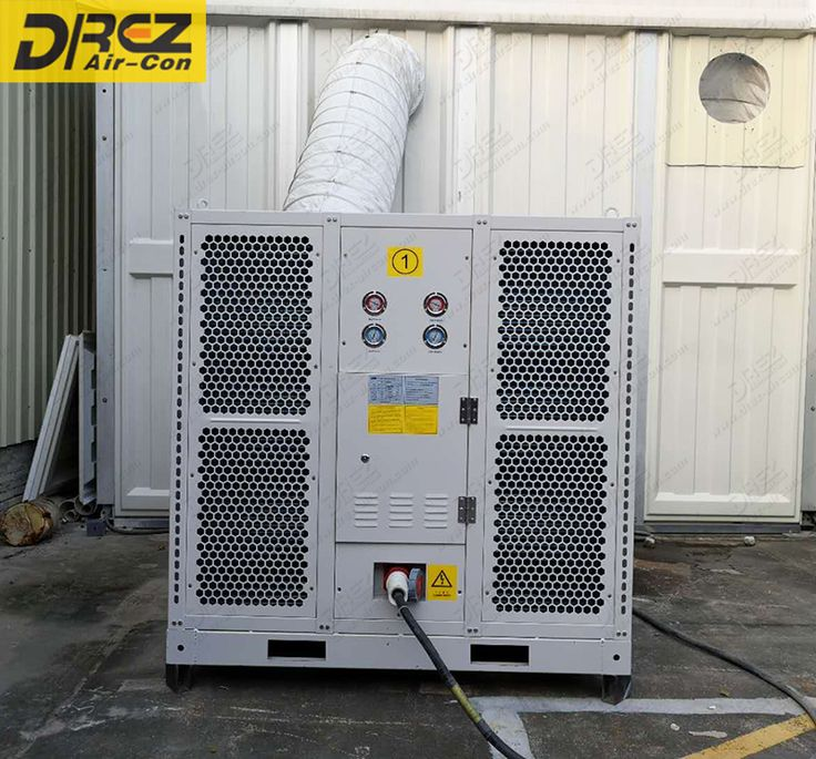 Drez horizontal duct air conditioning for outdoor tent