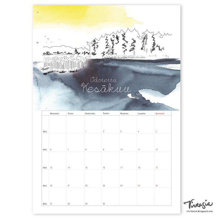 Ilmainen tulostettava kesäkuun 2016 seinäkalenteri #ilmainen #tulostettava #kalenteri #2016 #kesäkuu #free #print #calendar #June