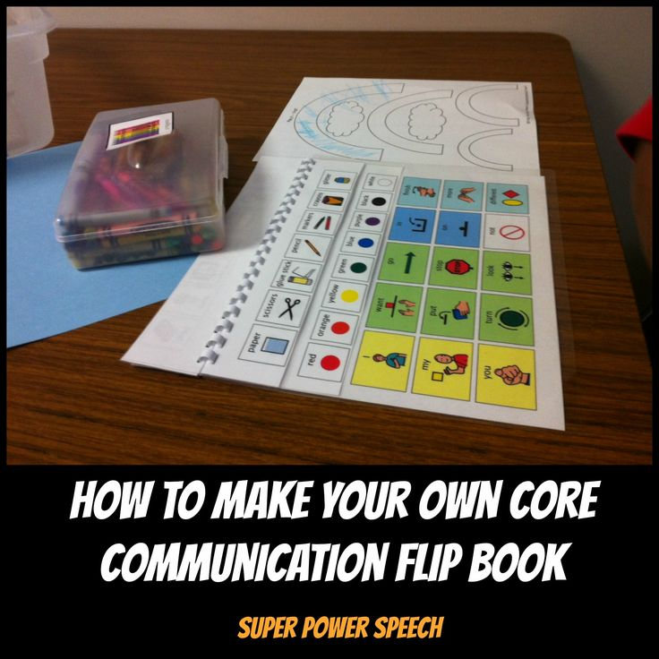 """Core Communication Flip Books rock!! Check out this """"how to"""" blog post!"""