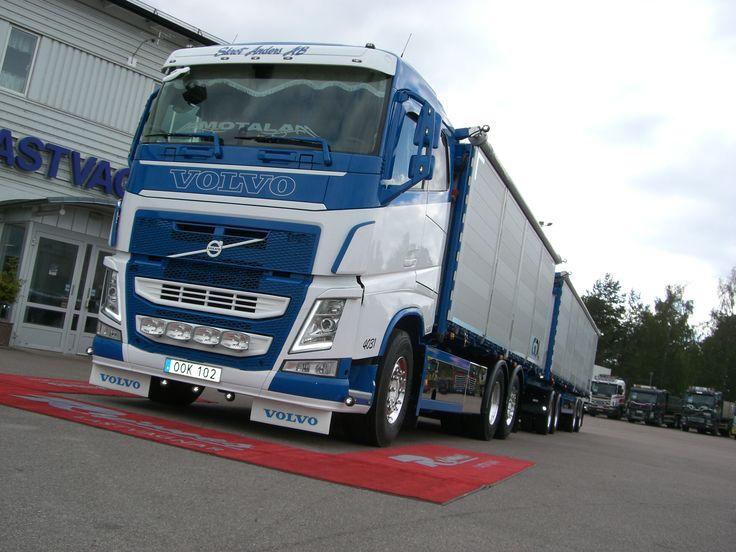 2014-09-15 Volvo FH 500 6X2 med  manuell växellåda och spannmålstipp från MVB med tillhörande släp. Detta till Skrot Anders AB