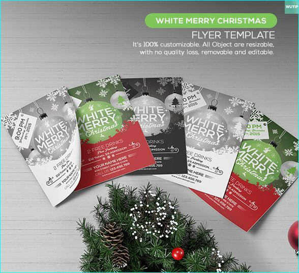 20 awesome free christmas flyer templates