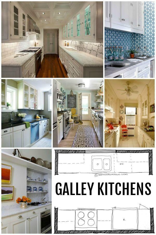 Kitchen Design Galley Kitchen Layouts Via Remodelaholic Com Galley Kitchen Layout Kitchen Designs Layout Galley Kitchen Remodel