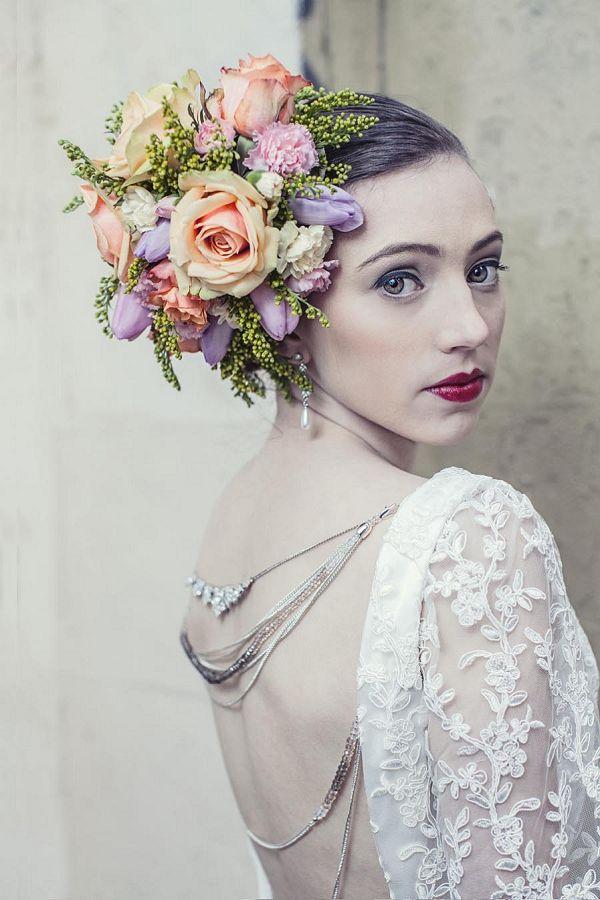 statement floral headpiece