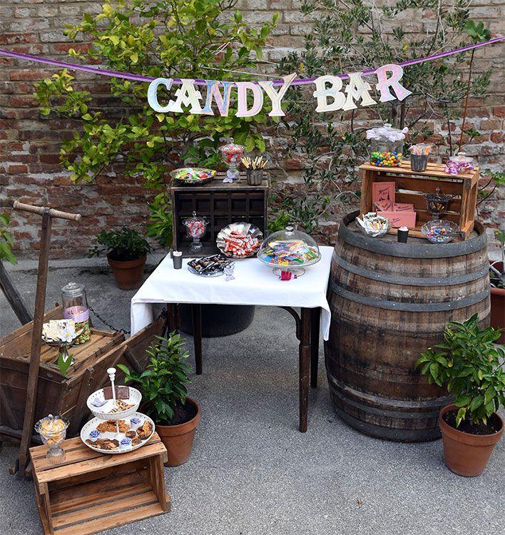 Candy Bar (Dessertbuffet, Geschenktisch, etc.) für Hochzeit & Party