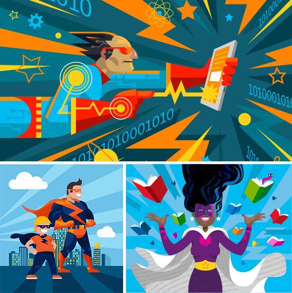 Microsoft Illustrations by Dan Schlitzkus, via Behance