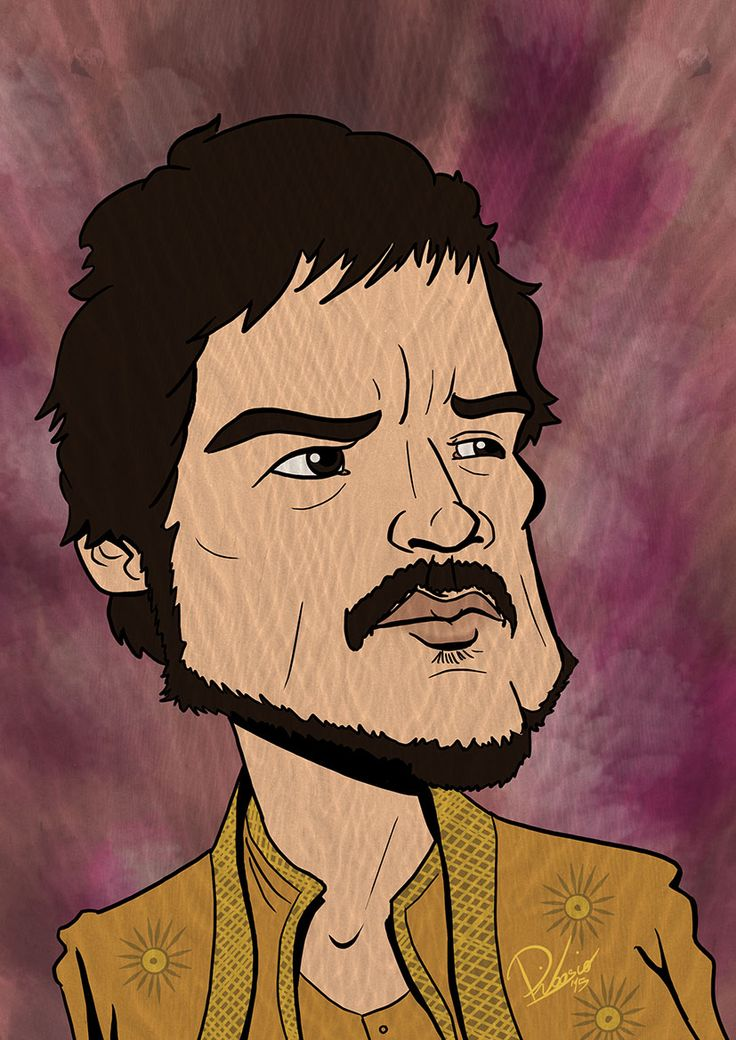 Pedro Pascal as Oberyn Martell in #gameofthrones - caricature by Ribosio