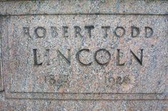 The grave of Robert Todd Lincoln at Arlington National Cemetery.  © Mike Lynaugh