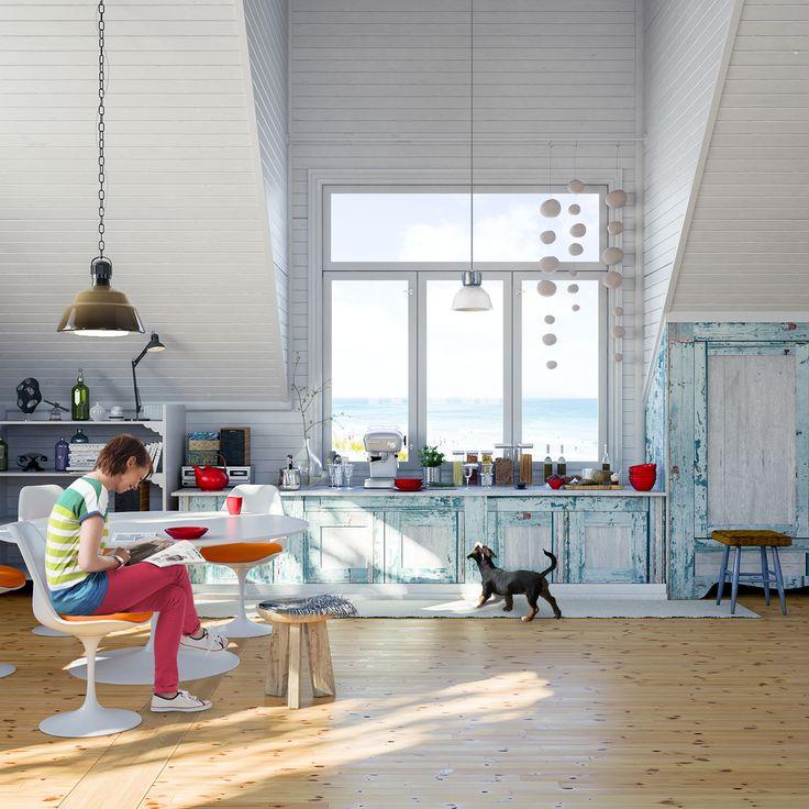 Kitchen & Beach