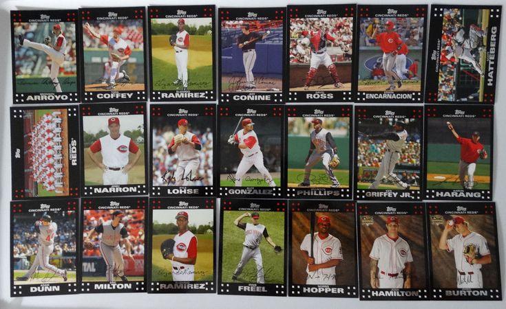 2007 Topps Series 1 & 2 Cincinnati Reds Team Set of 21 Baseball Cards #topps #CincinnatiReds