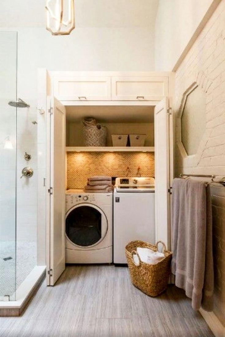 Laundry Nook Ideas We Love Clever Diy Ideas Laundry Room Layouts Laundry Room Closet Laundry Room Bathroom