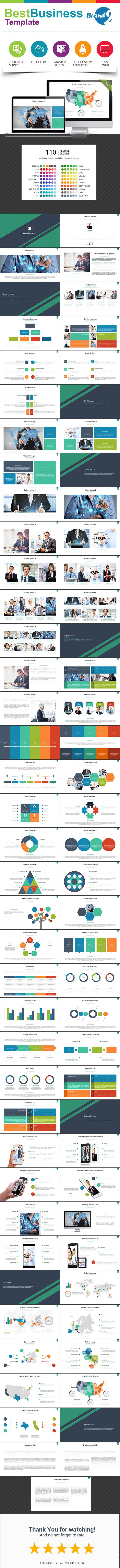 Best Business PowerPoint Template #design #slides Download: http://graphicriver.net/item/best-business-template-2/13840861?ref=ksioks