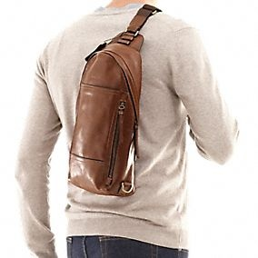 Bleecker Leather Convertible Sling Pack