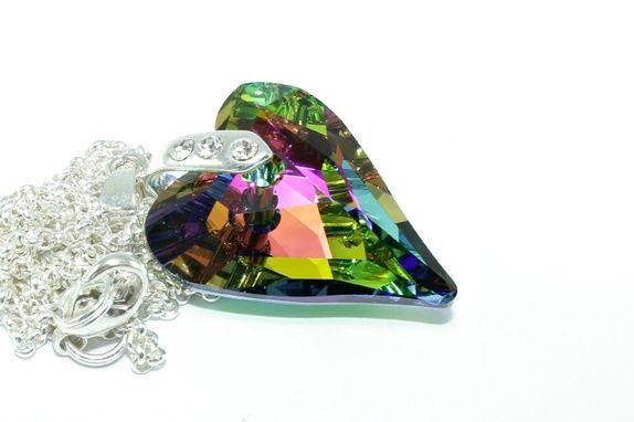 Eplabiter - Silver necklace with Swarovski krystalheart Sølv halssmykke med Swarovski krystallhjerte. http://epla.no/shops/trendsmykker/