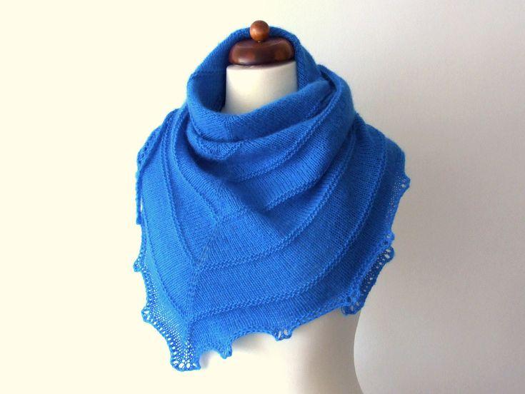 #Blue in my #etsy shop! http://etsy.me/2FdX9kw #handknit #trianglescarf #accessories #scarf #bluescarf #blueshawl #knitscarf #handmade #etsyfinds #etsygifts