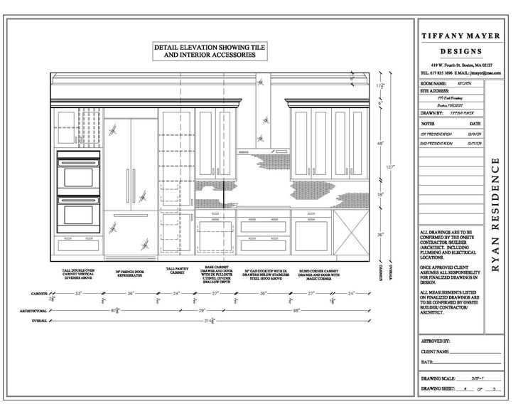 Kitchen Island Elevation elevation drawings cabinet detail drawing size interior design