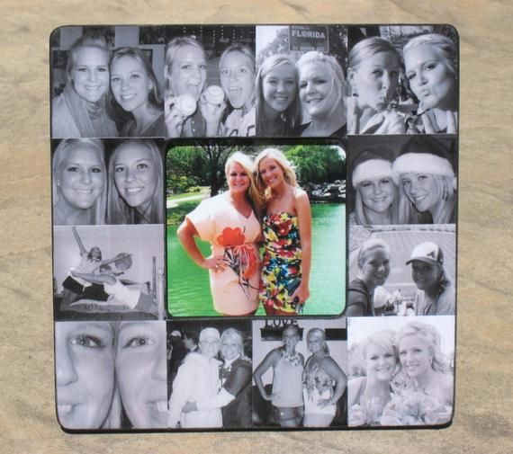 Bridesmaid Collage Picture Frame Best Friend Collage Picture Frame Custom Maid of Honor Frame Personalized Sister Gift 8 x 8 Frame