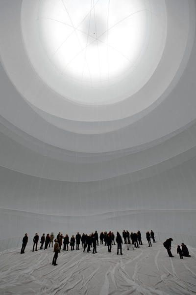 Christo, Big Air Package, Gasometer Oberhausen, Germany, 2010-13