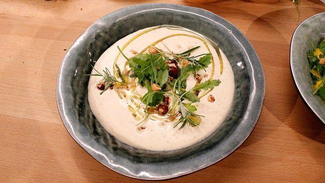rostad blomkål, citron och rosmarin. sicken soppa. låter supergod.