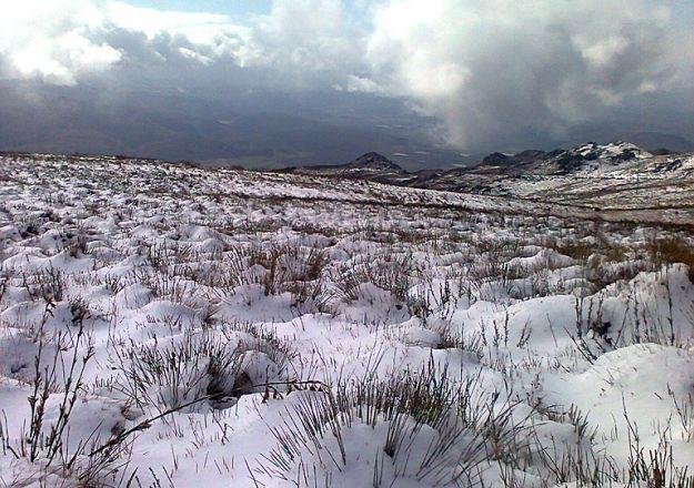 Boesmanskloof - Die Galg Akkommodasie. Die sneeu kan darem dik lê in McGregor!
