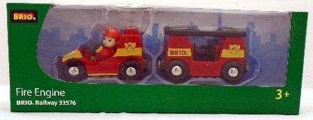 Brio Light and Sound Fire Engine BRI-33576 Hurry and put out the fire. This red classic retro fire engine has a brave and pose able fire chief and comes with an extendable ladder light and sound effects. It is safe pedagogic and fun making it  http://www.MightGet.com/january-2017-12/brio-light-and-sound-fire-engine-bri-33576.asp