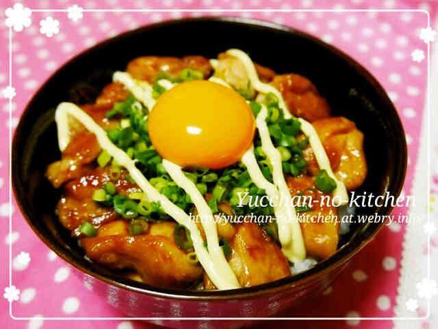 うまうま♡鶏肉のてりやき☆簡単ネギマヨ丼の画像