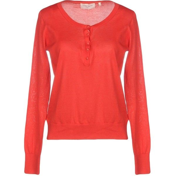 Marie Sixtine Jumper ($55) ❤ liked on Polyvore featuring tops, sweaters, red, jumper tops, long sleeve cotton tops, red long sleeve top, red sweater and long sleeve tops