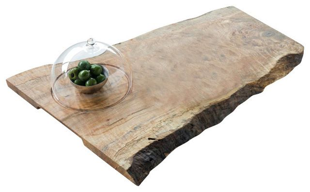 Cheese Board, With 1 Glass Dome Cloche eclectic knives and chopping boards