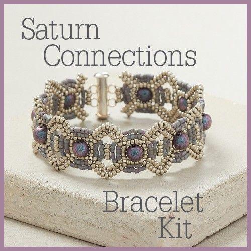 Work with herringbone stitch and ladder stitch to create a stunning bracelet designed by Carol Ohl.