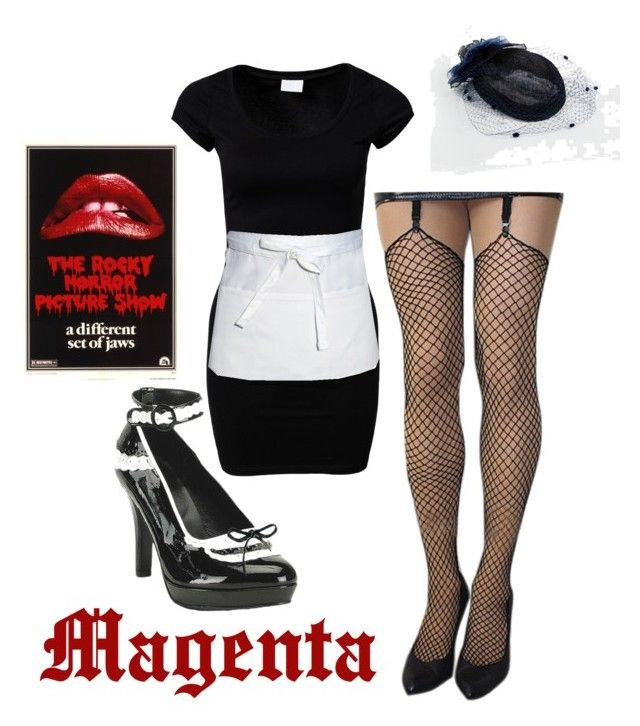 """Magenta-Rocky Horror Picture Show"" by ekw99 ❤ liked on Polyvore featuring VILA, Chef Works and Catarzi"
