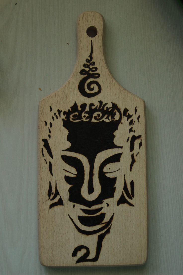 "Woodburning art. ""Enlighted Buddha"""