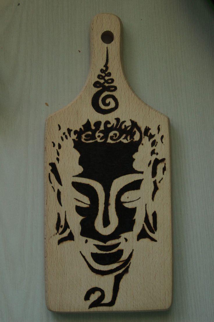 """Woodburning art. """"Enlighted Buddha"""""""